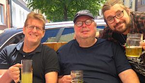 Frühschoppen mit Manni, Manu und dem neuen Kapitän des Teams